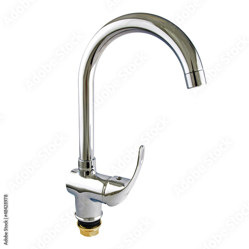 Water faucet isolated on white background