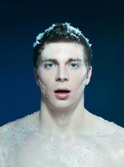 young frozen man