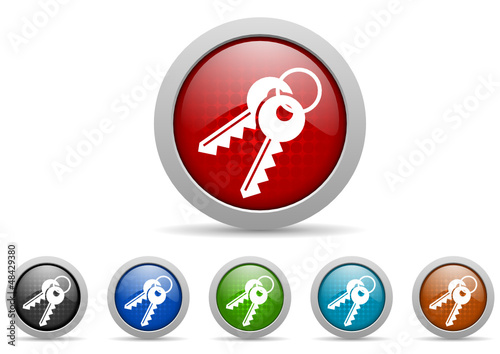 keys vector icon set