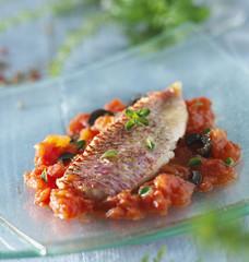 Filets de rouget provençaux