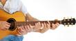 Go Folk - Multiple hands on acoustic guitar