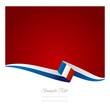 French flag blue red background vector
