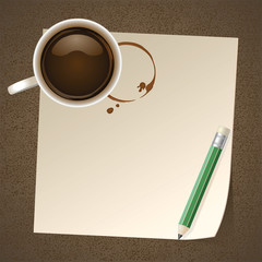 Coffee with Paper Note