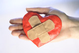 heart vith medical tape