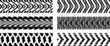 Seamless vector  tyre pattern on white background