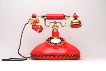 Telefono rosso, urgente, vintage, retro, chiamare, cellulare