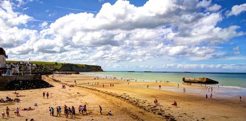 La spiaggia di Arromanches - Normandia