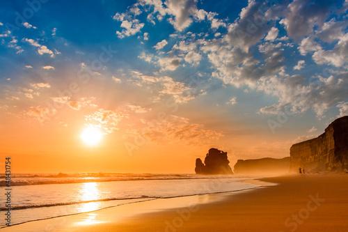 Fototapeten,strand,sonnenuntergang,meer,welle