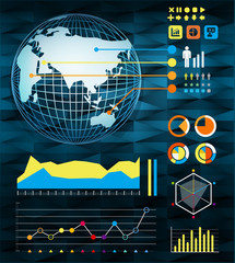 infographics set and Information vector Graphics Modern style