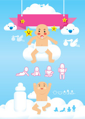 baby infographic vector