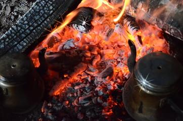 Fire embers of tea