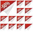 Rabatt Sticker - SALE - Prozent - Rot
