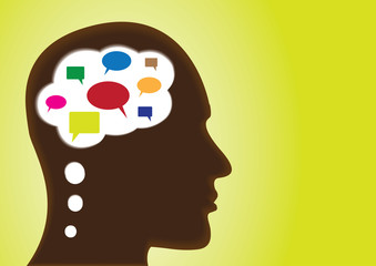 Thinking Head - speech-bubbles, social networking, discussion