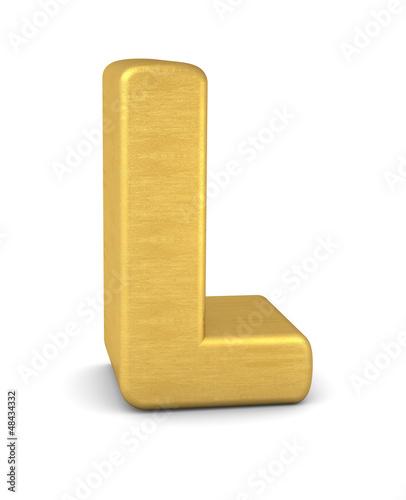 buchstabe letter L gold vertikal