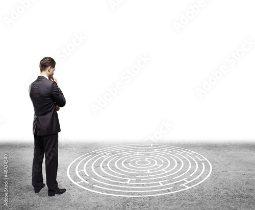 man and labyrinth