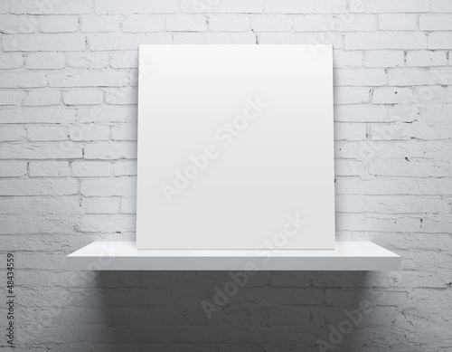 shelf with poster