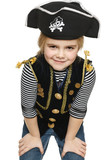 Grinning little girl pirate