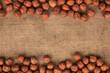 hazelnut lying on burlap