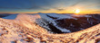Winter mountains panorama landscape at sunset - Slovakia - Fatra