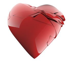 A broken heart 3-d render