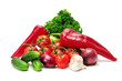 set vegetables isolated on white  background