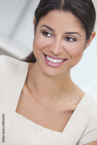 Happy Hispanic Woman or Businesswoman Smiling