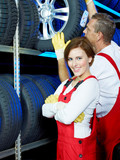 Apprentice for car mechanic is proud of her trainee position