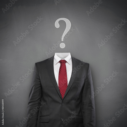 Question Mark with Suit