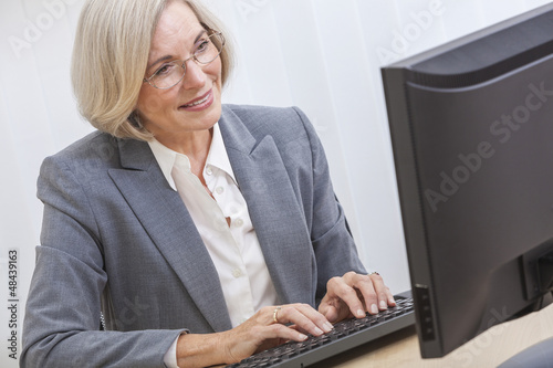 Senior Woman Using Computer