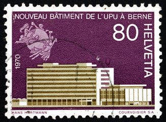 Postage stamp Switzerland 1970 New UPU Headquarters in Bern
