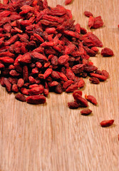 dried , organic goji berries
