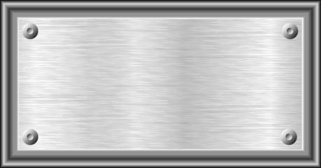 Plaque métallique.