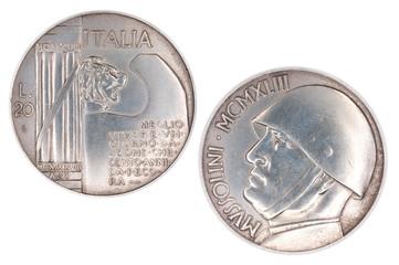 20 Lire Mussolini