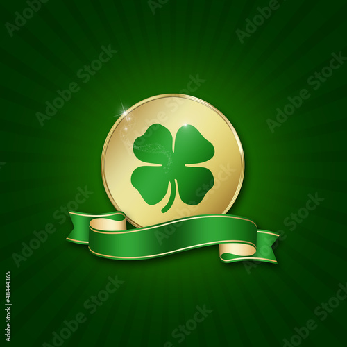 St. Patrick´s Day Coin with blank ribbon