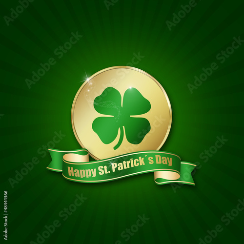 St. Patrick´s Day Coin with greeting