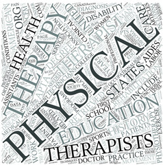 Physiotherapy Disciplines Concept