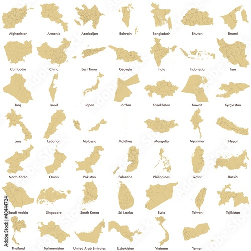 Asia maps, Asian Countries detailed