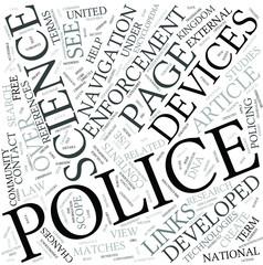Police science Disciplines Concept