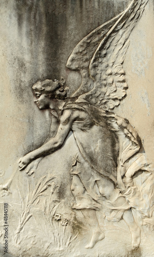antique angelic bas-relief © Malgorzata Kistryn