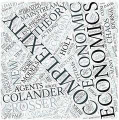 Complexity economics Disciplines Concept