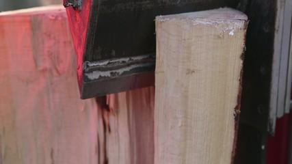 Holzspalter Detailaufnahme