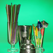Cocktail shaker and  other bartender equipment