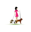 Lady riding dogs