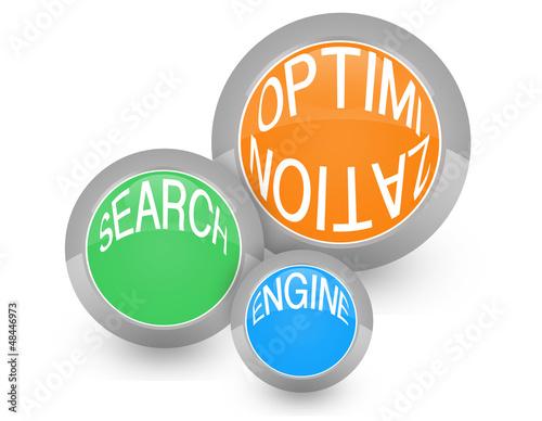 SEO - search engine optimization, colorato