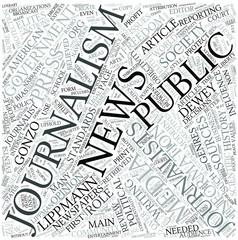 Print journalism Disciplines Concept
