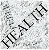 Public health Disciplines Concept