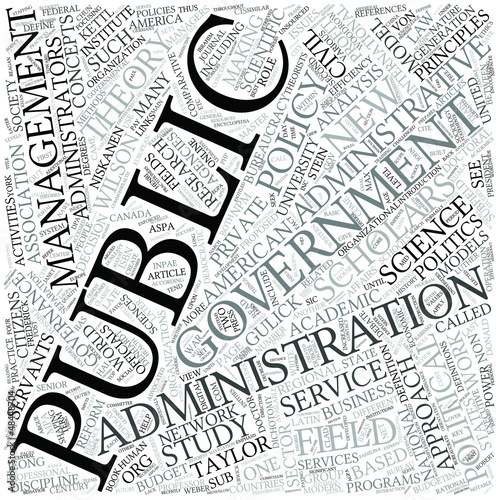 Public administration Disciplines Concept