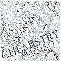 Computational chemistry Disciplines Concept