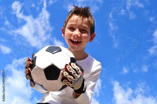 Fototapeten,kind,bengel,kind,fußball