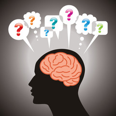 thinking human brain many questions